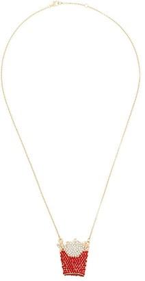 Browns X Sara Shakeel Gold-Tone Crystal-Embellished Necklace