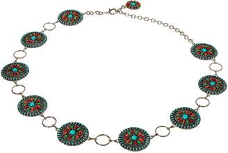 Nocona Belt Company Belt Co. Women's Multi-Color Concho Link Belt