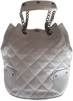 Burberry White Leather Handbag