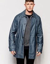 NATIVE YOUTH Coated Chambray Trench