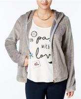 Belle Du Jour Juniors' Fuzzy Hoodie & Graphic T-Shirt Set