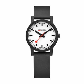 Mondaine Women's SBB Stainless Steel Essence Swiss Quartz Watch with Rubber Strap