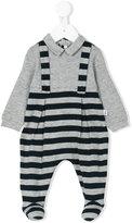 Il Gufo dungaree striped pyjama