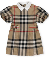 Thumbnail for your product : Burberry Children Puff Sleeve Check Print Dress