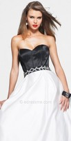 Faviana Black and White Ball Gown