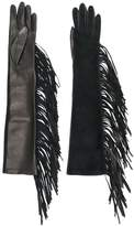 Manokhi fringed long gloves