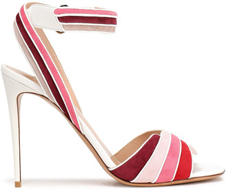 Valentino Color-block Suede Sandals