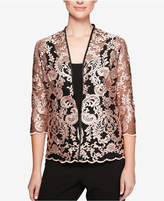 Alex Evenings Petite Embroidered Jacket & Shell