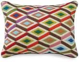 "Jonathan Adler Multi Diamonds Bargello Decorative Pillow, 12"" x 16"""