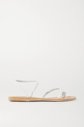 Ancient Greek Sandals Eleftheria Braided Leather Sandals - White