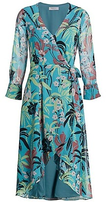 Bailey 44 Olympia Floral High-Low Wrap Dress
