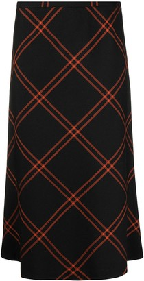 Maison Margiela check-pattern A-line skirt