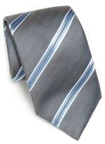 Saks Fifth Avenue COLLECTION Wide Stripe Silk Tie