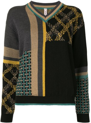 Antonio Marras Mixed Pattern Jumper