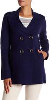 Trina Turk Long Sleeve Wool Blend Sweater Coat