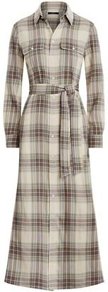 Polo Ralph Lauren Plaid Long-Sleeve Shirtdress
