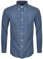 Ralph Lauren Slim Fit Denim Shirt Blue