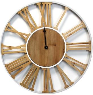 Stratton Home Multi Franklin Wood & Metal Clock