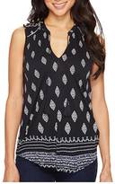 Lucky Brand Diamond Printed Shell Top