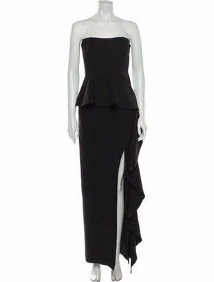 Cinq à Sept Strapless Long Dress Black