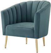 Nicole Miller Kody Velvet Accent Chair/Slipper Chair