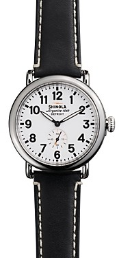 Shinola The Runwell Black Strap Watch, 41mm