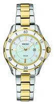 Seiko Women's 'DIAMOND SOLAR' Quartz Stainless Steel Casual Watch, Color:Two Tone (Model: SUT338)