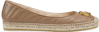 Gucci Leather espadrille with DoubleG