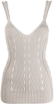 Dondup Stripe-Print Sleeveless Tank Top