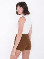 American Apparel Stretch Twill High-Waist Side Zipper Short