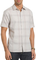 Van Heusen Short-Sleeve Giant Windowpane Woven Shirt