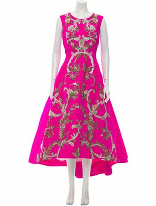Oscar de la Renta 2013 Long Dress Pink