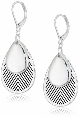 Chaps Women's Teardrop Lever Back Drop Earrings