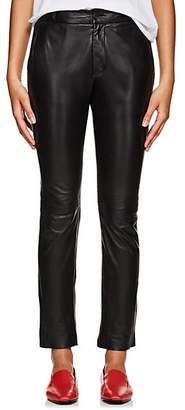 Nili Lotan Women's East Hampton Leather Slim Pants - Black