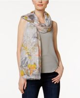 Steve Madden Illustrated Floral Wrap & Scarf in One