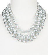 Carolee Gray Rose Faux-Pearl Multi-Strand Statement Necklace