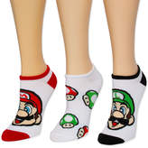 Asstd National Brand Super Mario Bros No show Socks - Womens