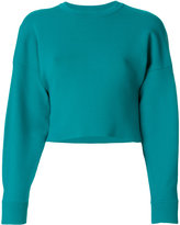Tibi jacquard long sleeved pullover