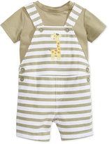 First Impressions 2-Pc. T-Shirt and Striped Giraffe Overall Set, Baby Boys (0-24 months), Created for Macy's