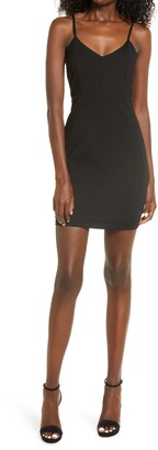 Lulus Cocktail Queen Fitted Minidress