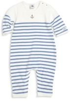 Petit Bateau Baby's Striped Coverall