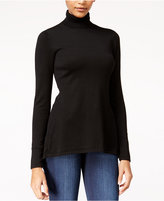 Material Girl Juniors' Lace-Up Turtleneck Sweater, Only at Macy's