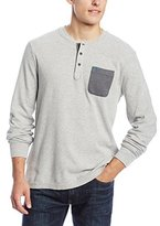 Original Penguin Men's Waffle Long Sleeve Henley Shirt