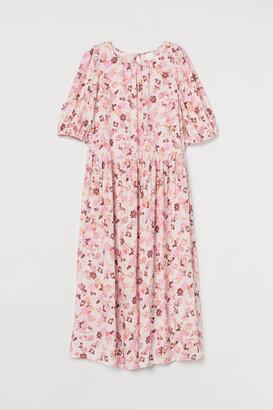 H&M Calf-length Dress - Beige