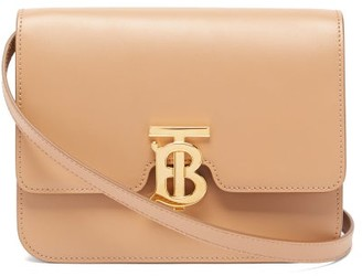 Burberry Tb Monogram Small Leather Cross-body Bag - Beige