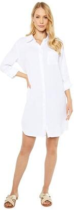 Tribal Shirtdress (White) Women's Clothing