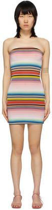 Missoni Multicolor Striped Strapless Dress