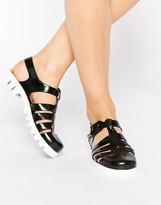 JuJu Maxi Jelly Flat Sandals