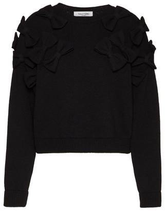 Valentino Bow-Embellished Sweater