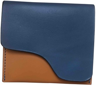 Atelier Atp Blue Leather Wallets